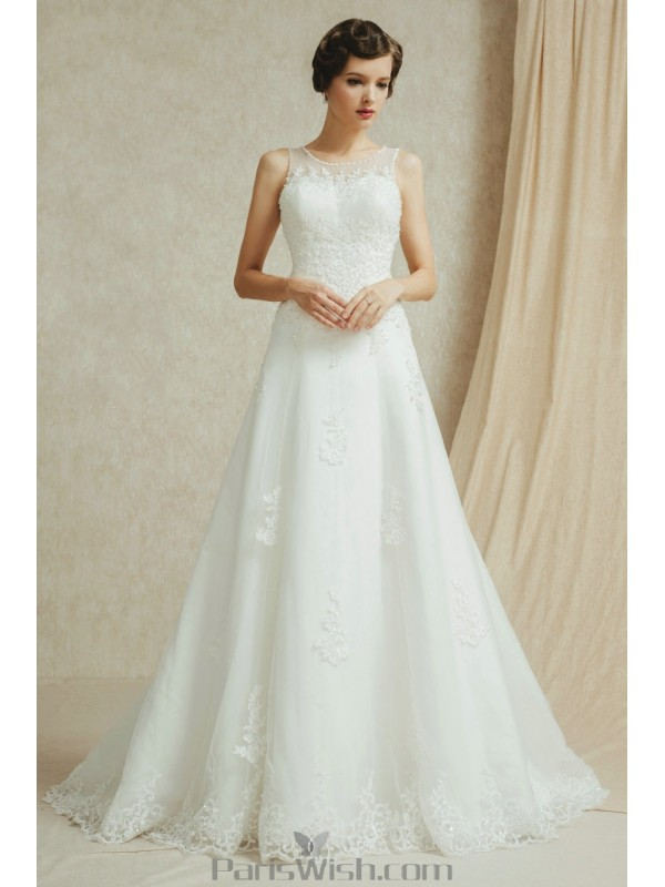 Embroidered Beaded Sequin Lace Vintage Wedding Dresses Plus Size Online