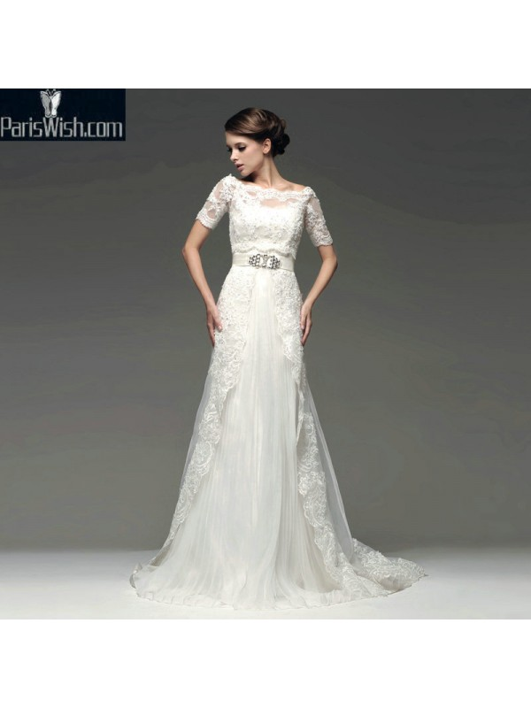 Scalloped Lace Plus Size Wedding Dresses With Jacket Online