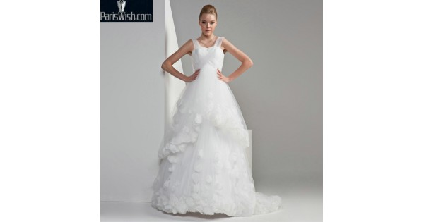 e595a7ddc38d0 Tulle A Line Maternity Wedding Dresses With Straps Online