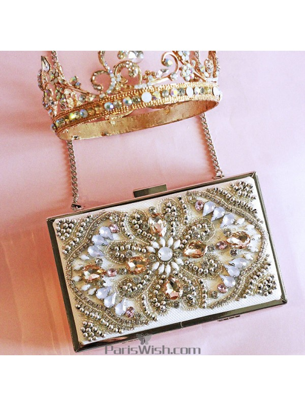 4fc8333996 ... Colorful Rhinestone Box Handbags For Evening Prom Cocktail ...
