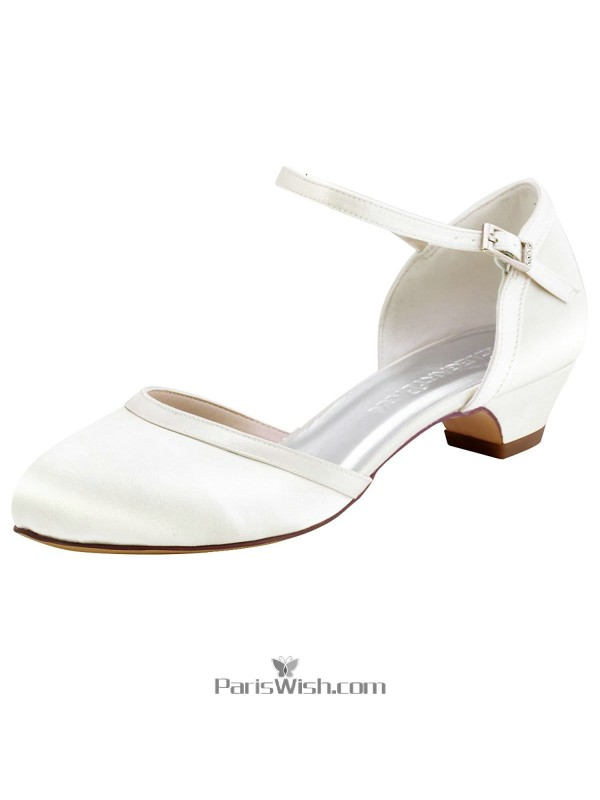 Ankle Strap Low Heel Chunky Wedding Bridal Shoes Comfortable Online