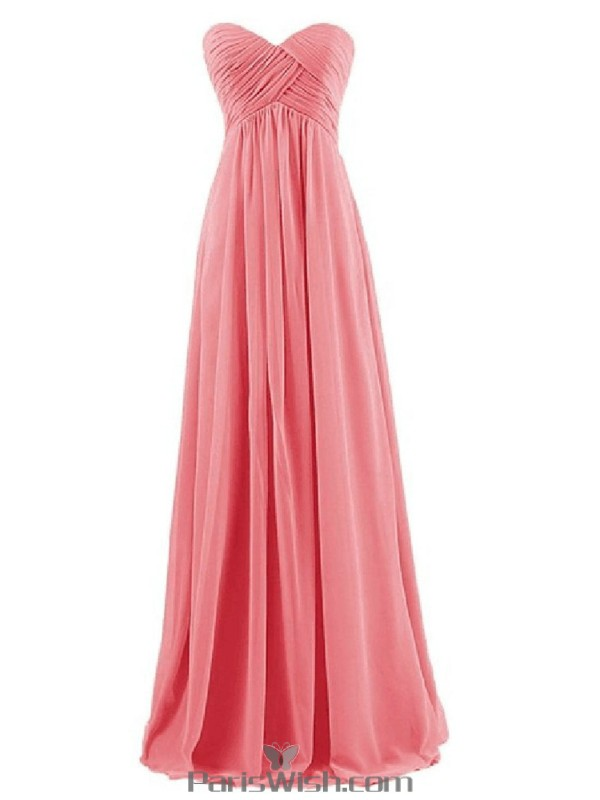 Sweetheart Chiffon Pleated Long Mint Bridesmaid Gowns Under 100