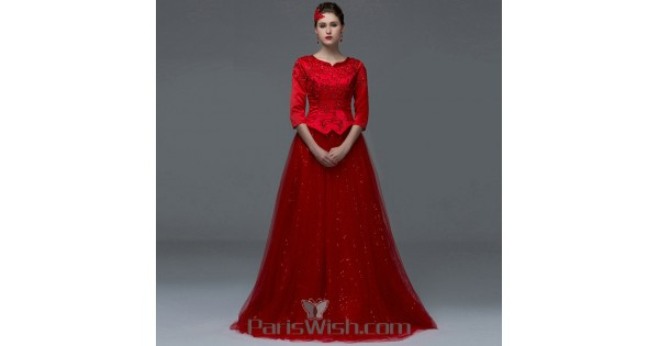 Modest Red Prom Dresses