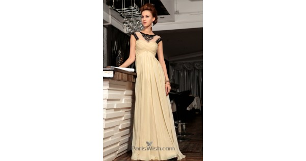 Champagne With Black Maternity Prom Formal Dresses