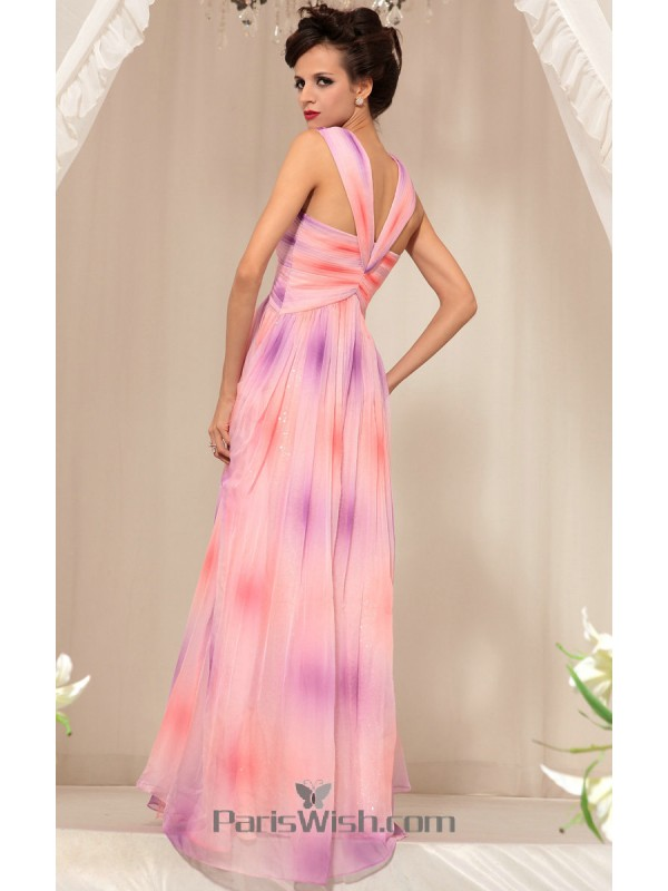 Multi Colors Pink And Purple Shade Maternity Prom Dresses