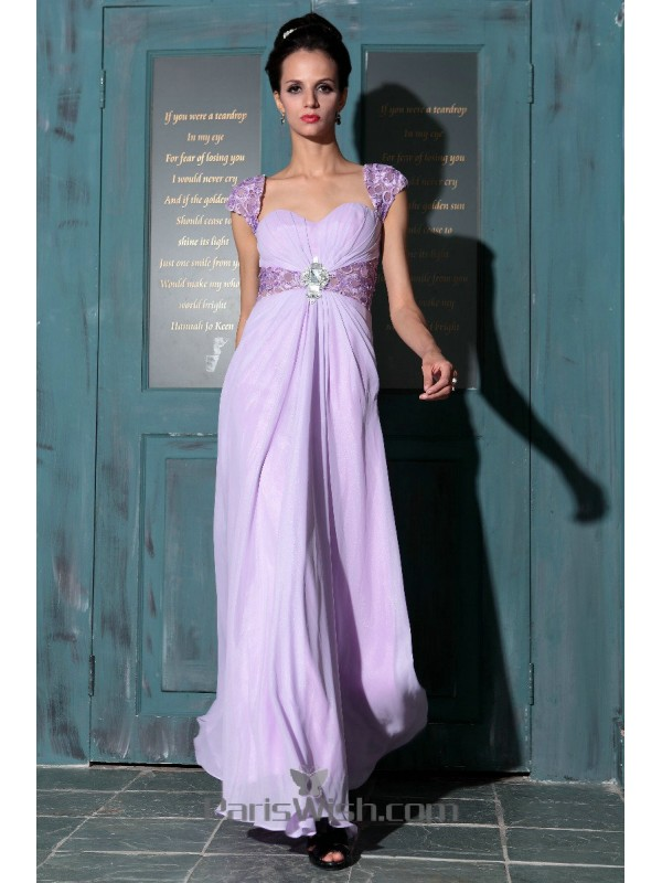 recognized brands big selection of 2019 volume large Sweetheart Cap Sleeves Lavender Maternity Prom Dresses