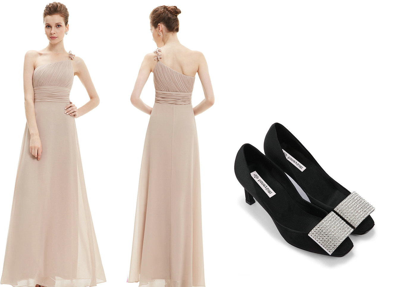 53755b36622 Match-The-Bridesmaid-Shoes-With-Dress-In-Color